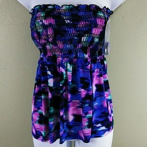 Other - Colorful Tankini Swim Top with Removable Straps
